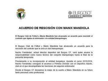 rescision manix